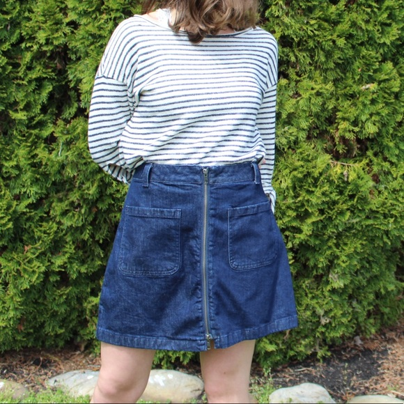 da3f2314d Madewell Skirts | Nwt Zip Up Denim Skirt | Poshmark